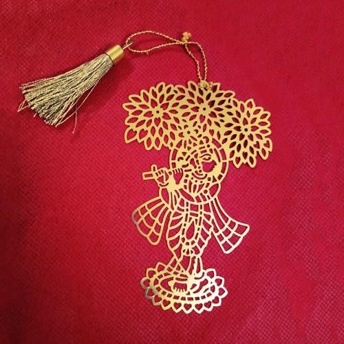 Krishna Design Metal Bookmark