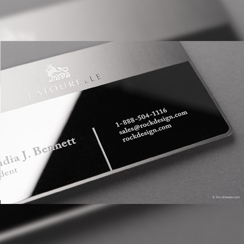 Silver Plated Metal Business Cards 03