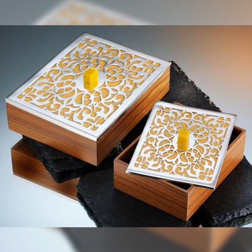 Wooden Metal Gift Box