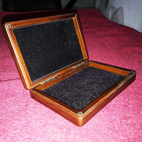 Wooden Metal Visiting Card Box