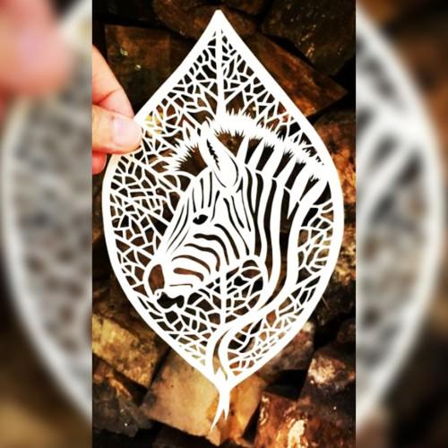 Zebra Design Metal Bookmark