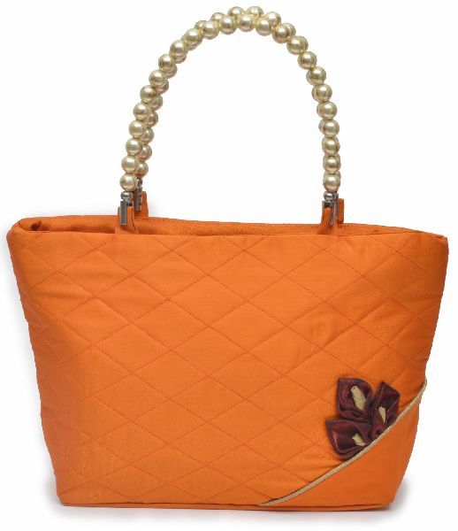 NHSB - 030 Ladies Bead Handle Silk Handbag