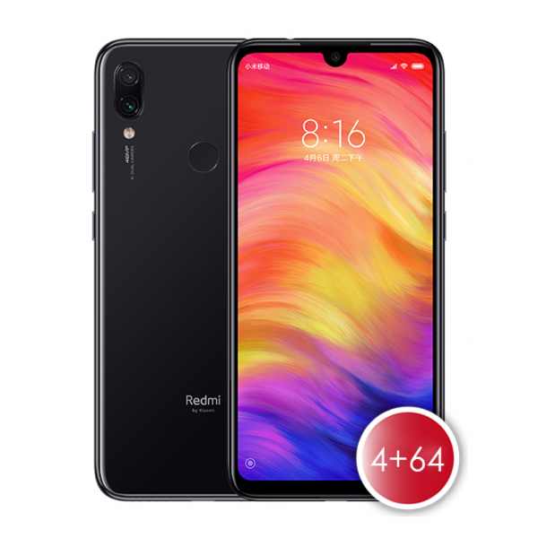 Xiaomi Redmi Note 7 (4/64) Black Mobile Phone