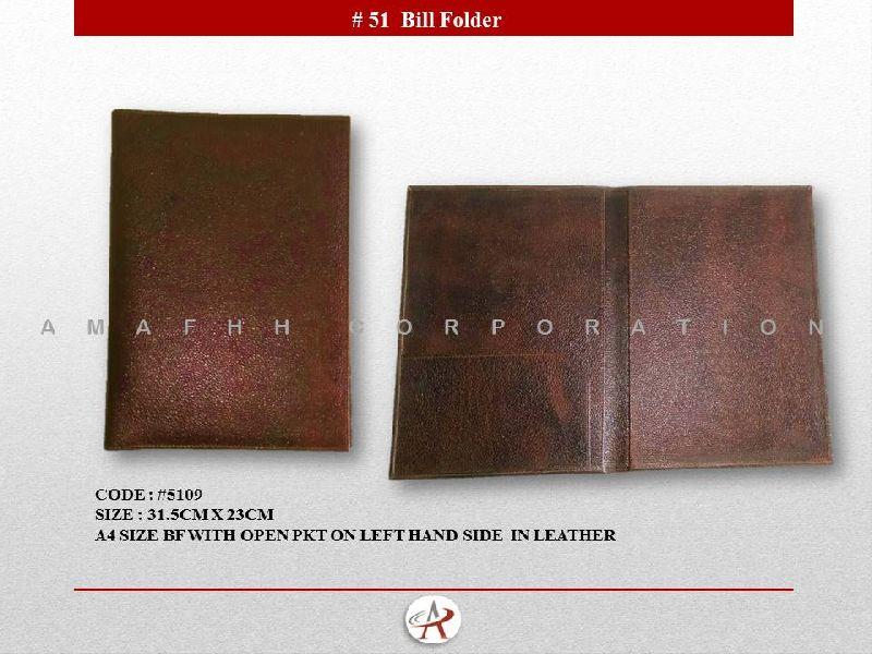 Leather Bill Folder