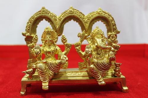 Brass Laxmi and Ganesh Statue 02
