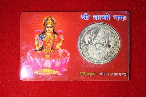 Laxmi Silver Coin Card