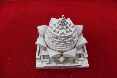 Wooden Lotus Shree Yantra 02