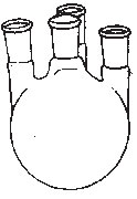 Round Bottom Flask Four Necked, Angle or Parllel 'SKS'