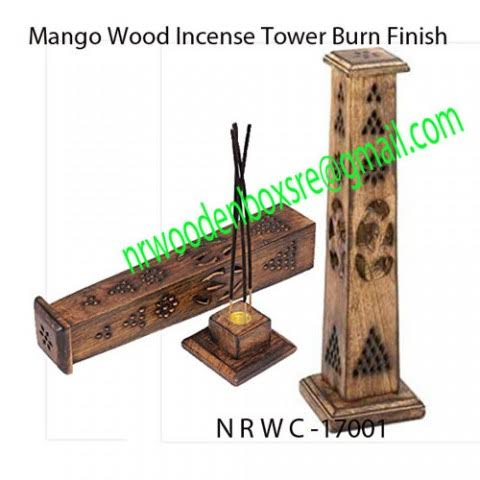 NRWC-17001 Mango Wood Hut Incense Tower