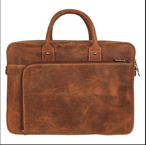 HL-103 Leather Laptop Bag 01