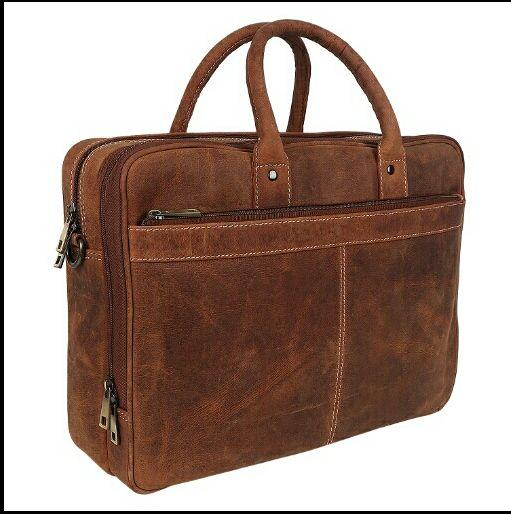HL-103 Leather Laptop Bag 02