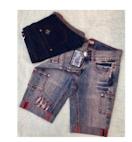Dark Blue & Mid Blue Denim Shorts