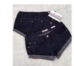 Denim Dark Blue Shortie Shorts