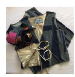 Handmade Patchwork Designer Denim Vests & Belts