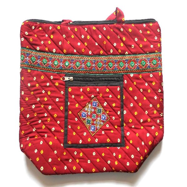 Kutch Work Embroidery Red Bag