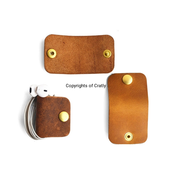 Leather Multipurpose Clip Cable Organiser