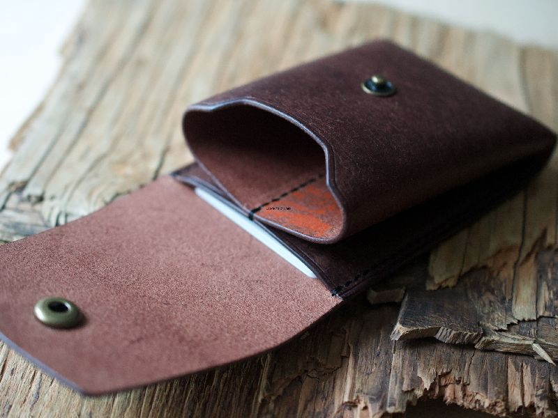 Leather Dark Brown Leather Coin Holder