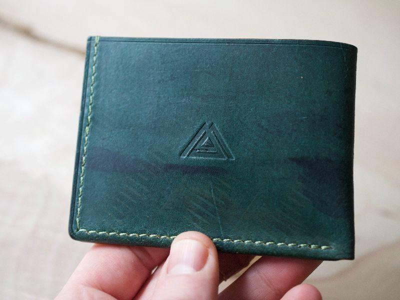 Leather Green Leather Coin Holder