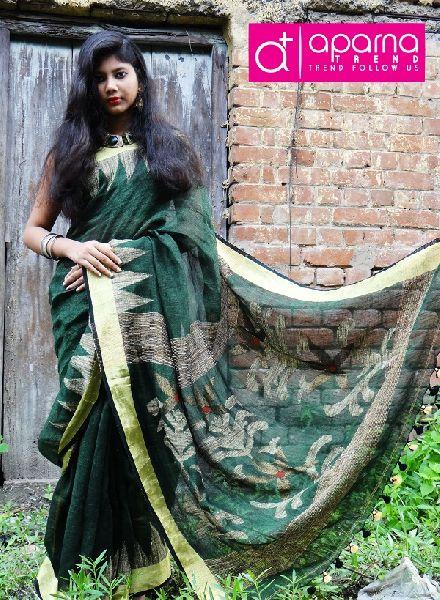 Jamdani Linen Saree 05