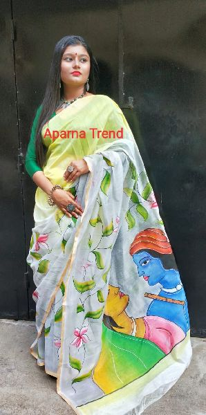 Kerala Cotton Print Saree 01