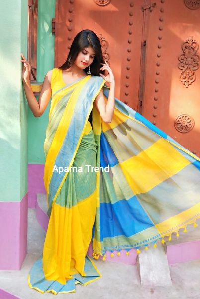 Plain Khadi Saree 03