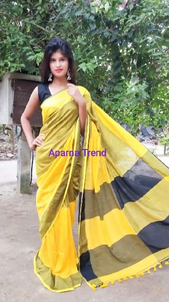 Plain Khadi Saree 05