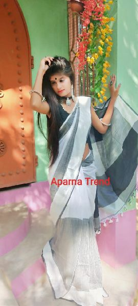 Plain Khadi Saree 06