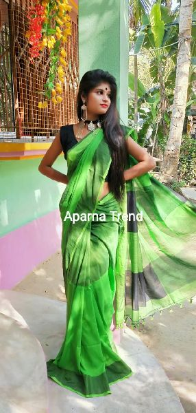 Plain Khadi Saree 07