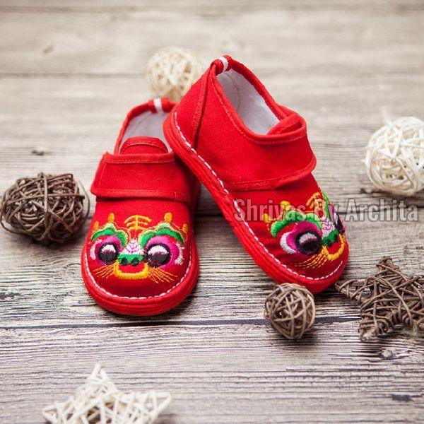 Kids Embroidered Footwear