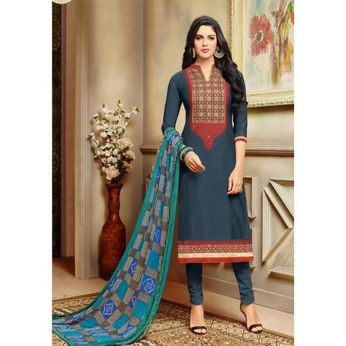 Ladies Fancy Cotton Suit