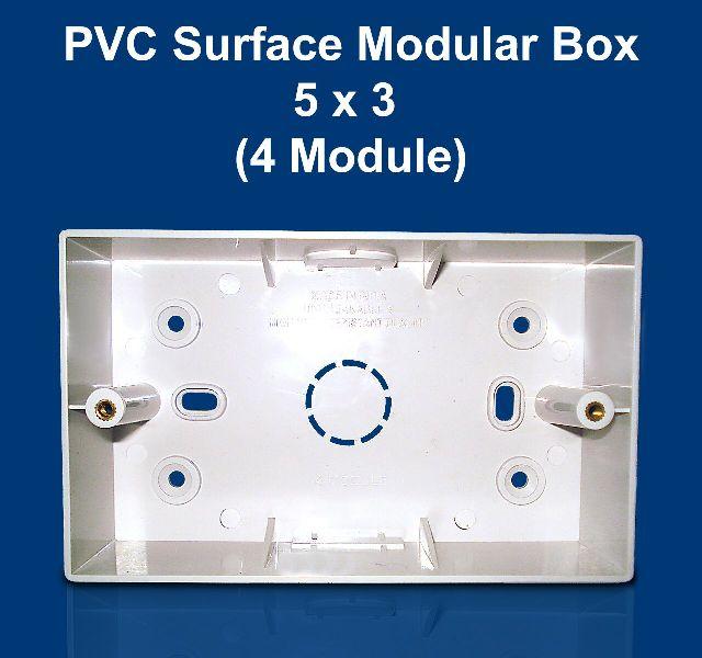 5 X 3 PVC Surface Modular Box