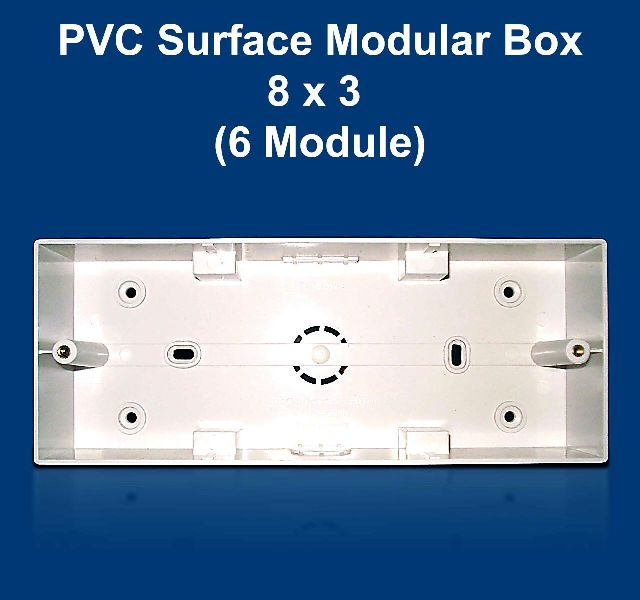 8 X 3 PVC Surface Modular Box