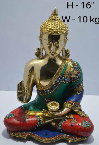 Brass Buddha Statue 02