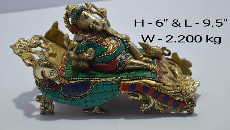 Brass Ganesha Statue 01