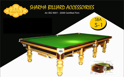 Tournament Snooker Table In Steel Cushion Manufacturer