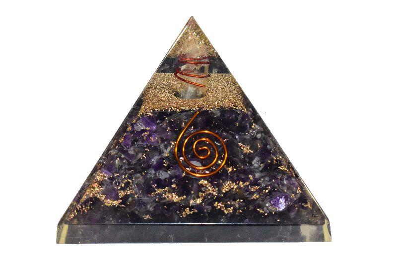 Amethyst Orgone Pyramid