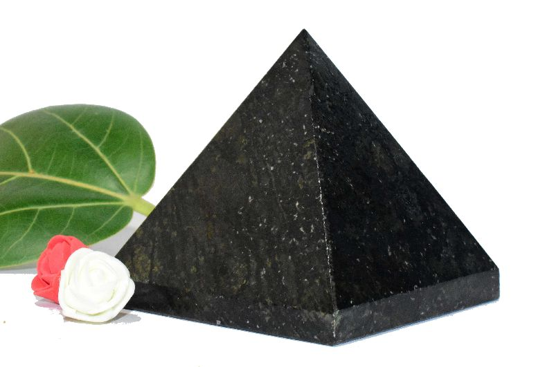 Black Tourmaline Stone Pyramid