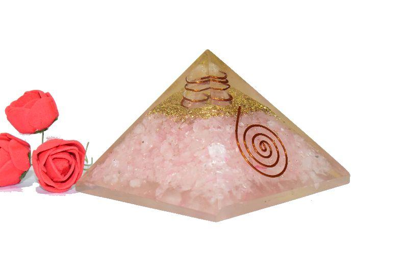 Rose Quartz Orgone Pyramid