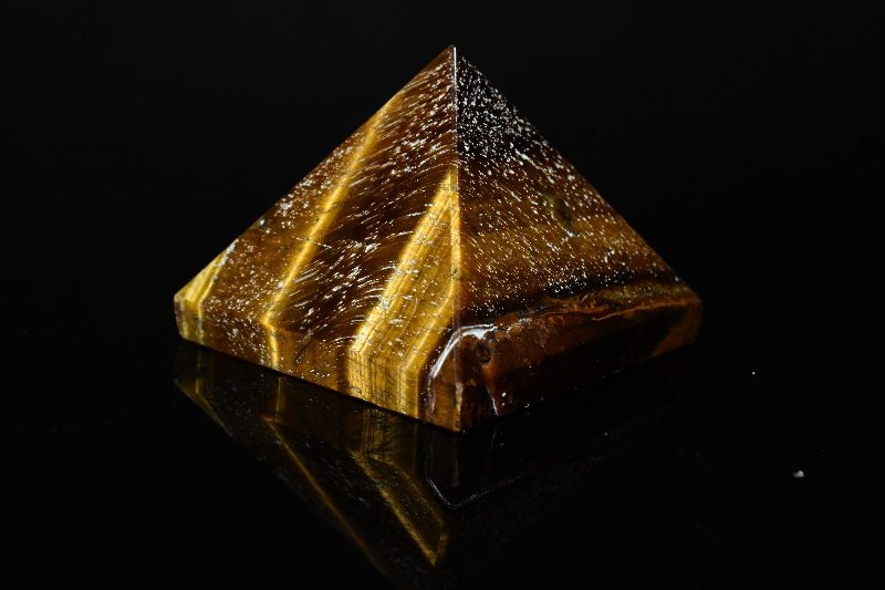 Tiger Eye Stone Pyramid