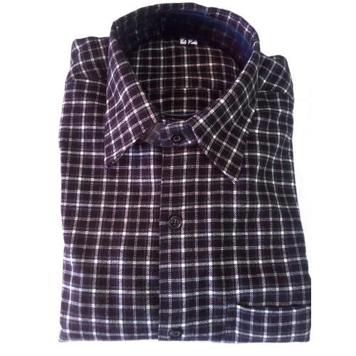 Mens Blue Woolen Shirt