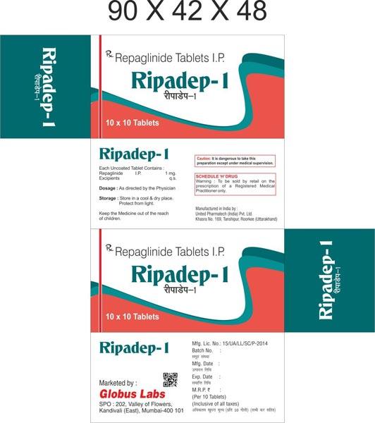 Repaglinide & Metformin Hydrochloride (SR) Tablets