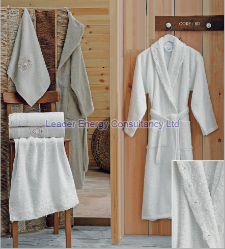 6 Pieces Bathrobe Towel Set