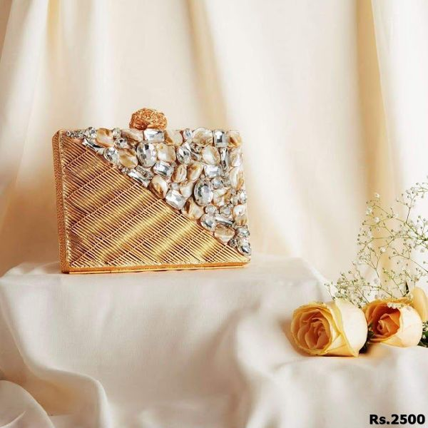 Beautiful Brass Clutch Purse
