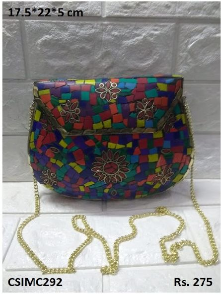Decorative Mosaic Clutch Purse