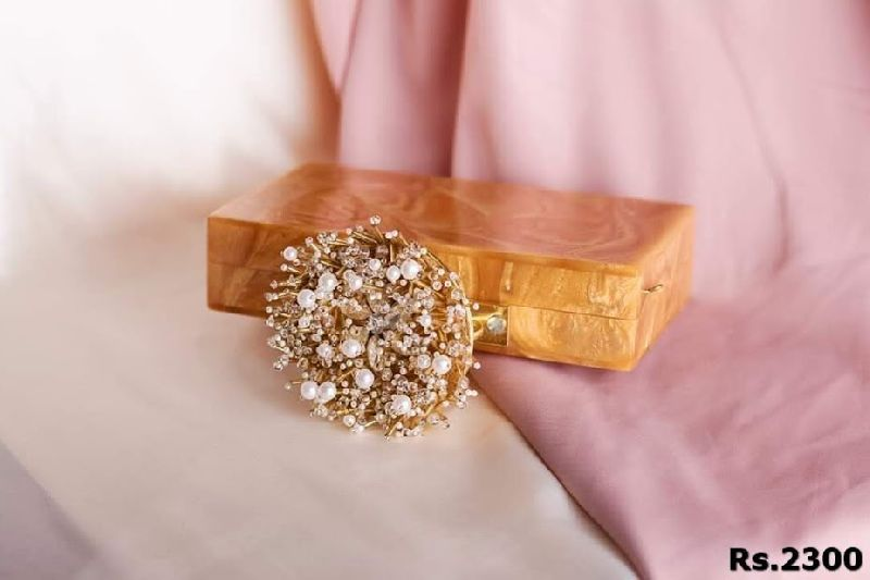 Stylish Brass Clutch Purse