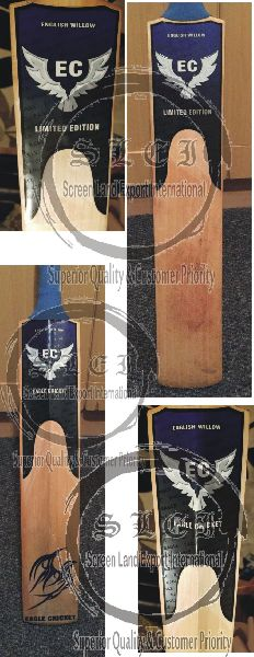 3D Embossed Cricket Bat Sticker