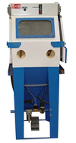 Cabinet Type Abrasive Blasting Machine