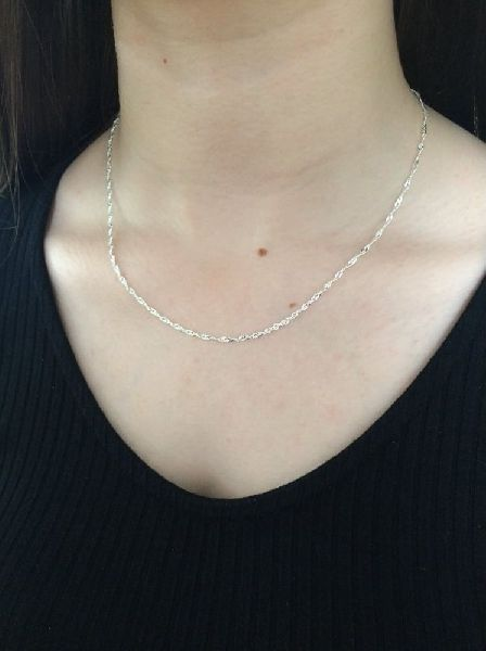 Sterling Silver Twisted Chain