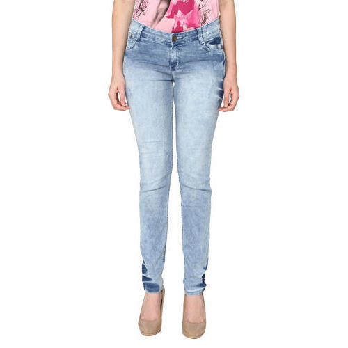 Ladies Faded Jeans