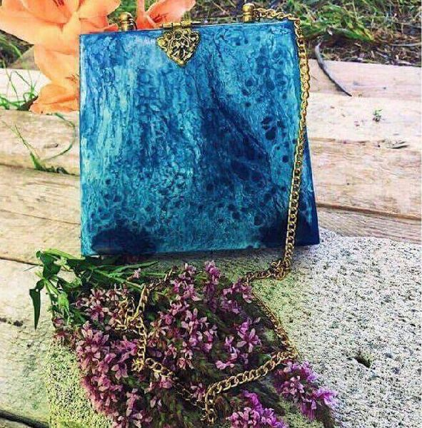Resin Clutch Purse